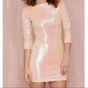 NWT NastyGal sequin mini dress. Size small.